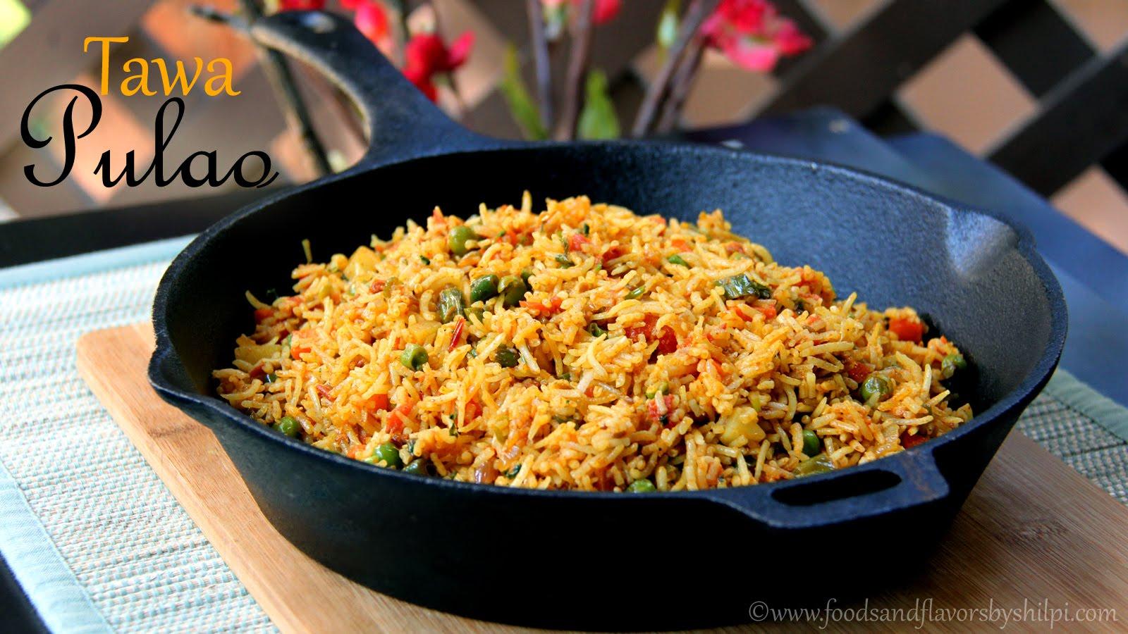 Tawa Pulao Recipe   Mumbai Style tawa Pulao -Quick & Easy Indian Vegetarian Rice Recipes by Shilpi