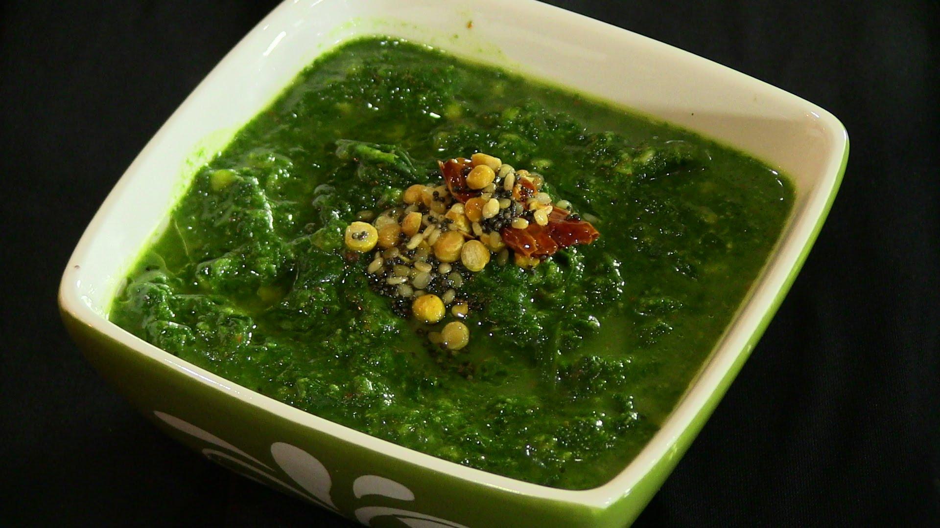 Spinach Curry Indian Recipe (Keerai Malagutal)