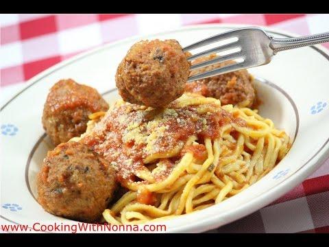 How to Make Homemade Spaghetti  and Meatballs - Original Italian Recipes by Rossella