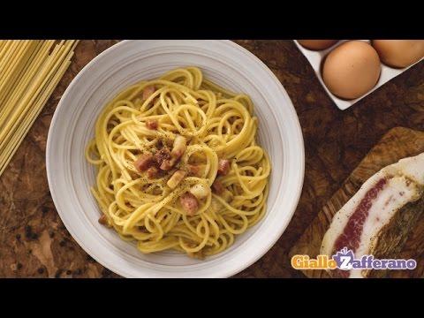 Spaghetti Carbonara - original Italian recipe