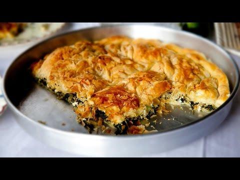 Hortopita spinach pie  (Vegetarian recipes) - Greek Cuisine