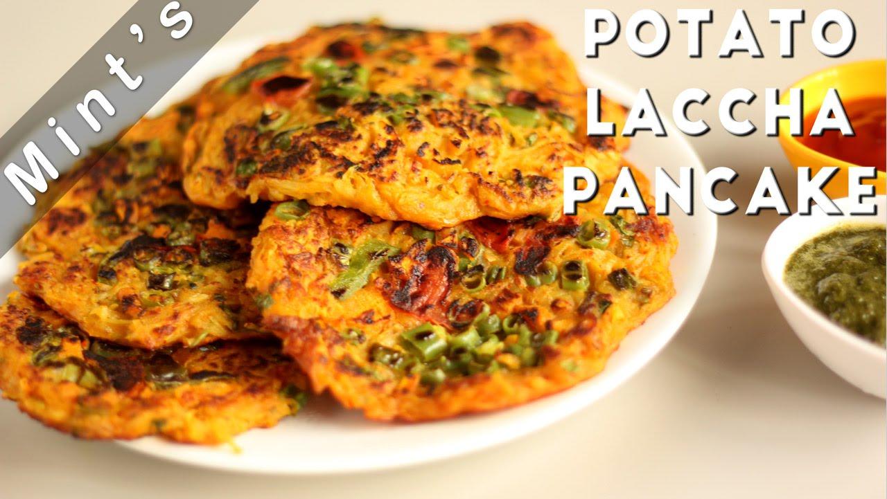 Potato Pancake Recipe In Hindi - Indian Breakfast Recipe - Indian Recipe - Vegan Recipes - Ep-124