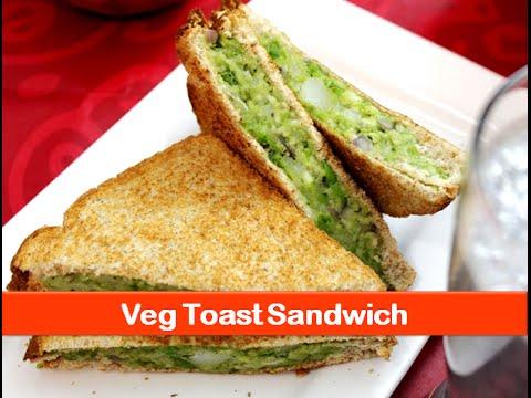 Vegetarian sandwich recipe/healthy evening snacks/indian breakfast recipes/kids lunch box snack idea