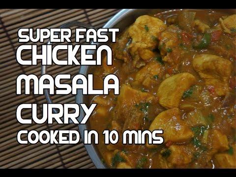 Chicken Curry in 10 mins Recipe - Super fast Indian Masala