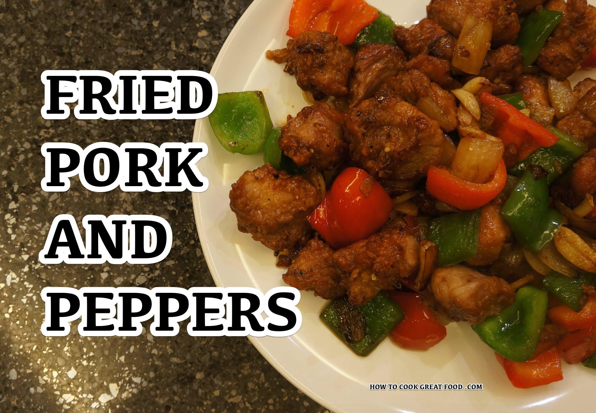 Stir Fry Garlic Pork & Bell Peppers Recipe - Asian Wok