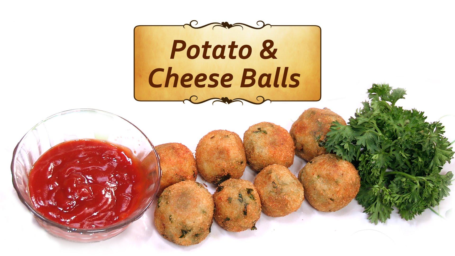 Potato Cheese Balls Recipe - Kids Snacks and Lunchbox Ideas