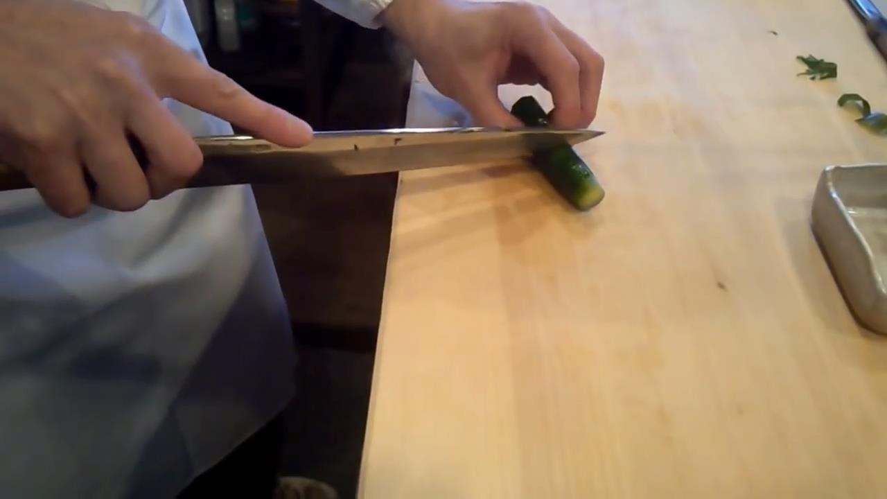 Japanese Cutting Skills - Cucumber Cutting